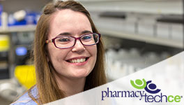 Pharmacy Tech with a PharmacyTechCE logo