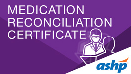 Medication Reconciliation Certificate